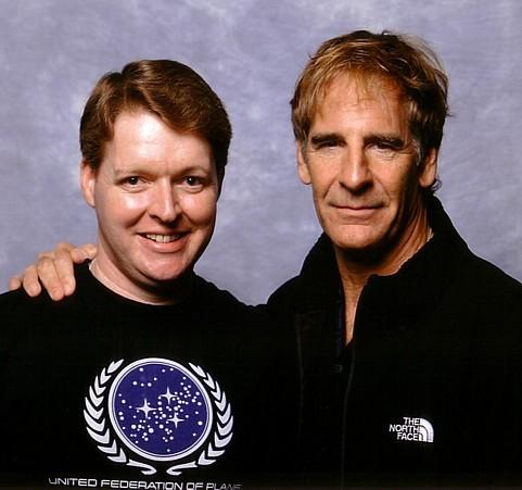 Me, Stuart Meeson, with Scott Bakula