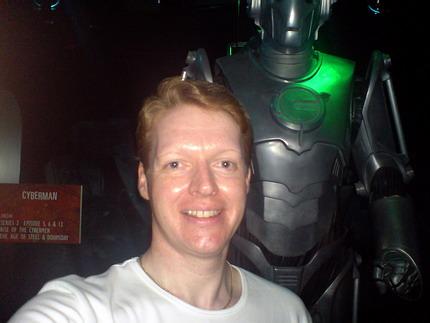 Me followed by a Cyberman, 26th June 2008