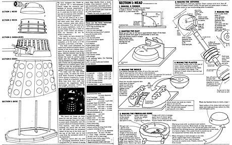 BBC blueprints for homemade Dalek. Click to view PDF