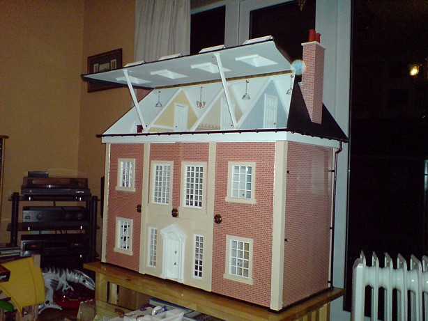 Christmas Day with the Doll's House made by Grandad Meeson