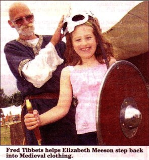 Elizabeth goes Medieval at the Chetwyn Medieval Fayre (Picture by Steve Lumley for The Advertiser, 9th July 2010)
